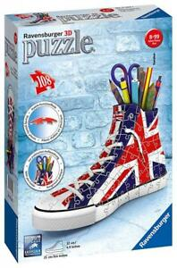 Ravensburger 11222 High Quality British Flag Sneakers 108 Piece 3D Jigsaw Puzzle