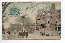 CANADA carte postale ancienne MONTREAL Attelages Sherbrooke street