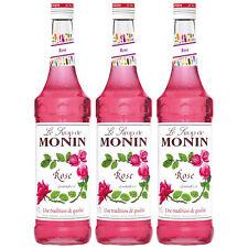 Monin Sirup Rose, 0,7L, 3er Pack
