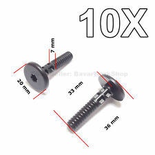 10X  Lower Side Sill Rivet, Rocker Trim Panel Retainer for BMW