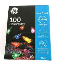 GE 100 String-A-Long Multi-Color Miniature Lights 20.6ft/6.27m Christmas