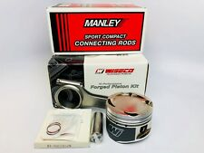 Wiseco Pistons Manley Rods for Nissan 240SX KA24DE 90mm 9.0:1 S13 S14