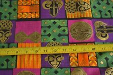 By 1/2 Yd, Bright African Theme Quilting Cotton, Design No 2291, N1241