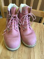 Ladies Pink Timberland Boots Size 5.5