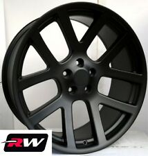 "Dodge Ram Wheels Ram 1500 SRT-10 Satin Black Rims 20"" inch 20x9"" 5x139.7 5x5.50"""