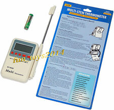 Hot and Cool Digital Multi Thermometer Meter for AC Air, Water Room and Freezer