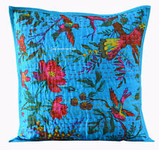 Indain Handmade 16X16 Bird Cotton Hippie Bohemian Cushion Cover Homedecor AG