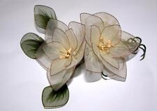 2 Vtg 1950s Stretchy Net Ovr Wire Dogwood Flower Blossoms Easter, Spring Crafts