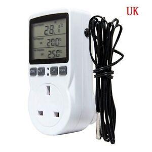 Digital Plug In Thermostat Electric Temperature Controller Sensor w/Socket Timer