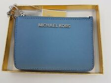 Michael Kors NEW Giftables  Leather  Purse Wallet Keyring  In Silver Gift Boxed