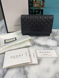 NIB Gucci Microguccisima Soft Margaux Dk Brown Card Case 544030