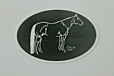 Quarter Horse Oval Sticker Decal ~ New, Free Shipping