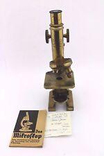 Antigüedades microscopio Carl Zeiss Jena revolver obj R & J Beck 1900 óptica microscope