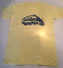 Vintage 1990 Hanapaa T-shirt Mens  Yellow Size Medium