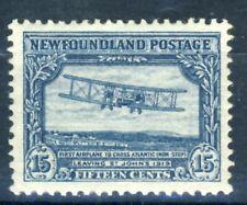 "1931 Newfoundland MNH OG 15 cent ""Airplane crossing Atlantic"" perfect stamp!!"
