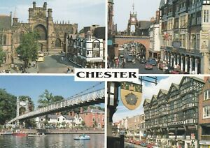 Chester.  John Hinde Multi-view postcard in VGC.  Unwritten/Unposted