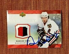 2007 Upper Deck Game Jerseys #JDK Duncan Keith Blackhawks Hockey Card JSA JSY AU