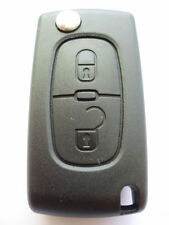 Replacement 2 button flip key case for Peugeot 107 207 307 308 remote fob