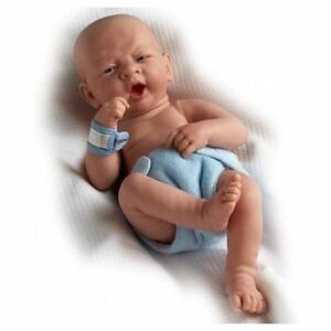 Lifelike Boy Baby Doll 14inch Reborn Real Looking Newborn Soft Vinyl White Skin