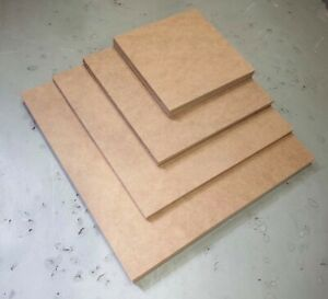 Square MDF Plain Boards Sheets, 2, 3, 4, 6, 9, 12mm, various sizes 50mm - 600mm