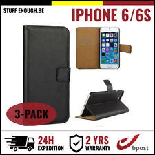 3IN1 Wallet Case Cover Cas Coque Etui Portefeuille Hoesje Black For iPhone 6 6S