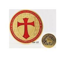 Cavalieri templari Cavalieri croce Oro goldene Medaglia placcato in oro colorato