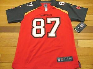 NIKE NFL ON FIELD TAMPA BAY BUCCANEERS ROB GRONKOWSKI JERSEY SIZE YOUTH M 10-12