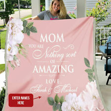 Personalized Mom Quilt Blanket, Gift for Mom, Mother Quilt Blanket, Mother Gift