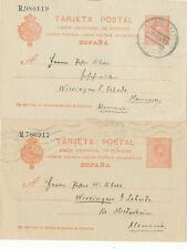 Spain - 4 Stationary postcards 1891 - 1914. Two are numbered.