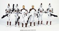 """Star Wars 3.75"""" Animated Clone Wars 104TH BATTALION WOLFPACK Army Builder Lot"""