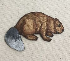 Natural Brown Beaver - Animal - Iron on Applique/Embroidered Patch