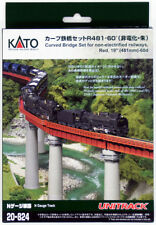 "Kato 20-824 UNITRACK Curved Bridge Set R481-60º 19"" (481mm)-60d (Red)  (N scale)"