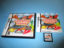 Cooking Mama (Nintendo DS) Lite DSi XL 3DS 2DS w/Case & Manual