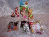 "Winnie the Pooh Tigger Piglet 3"" McDonalds Plush Roo Figure Figurines Toy"