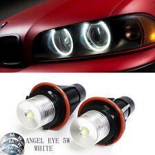2x BMW E39 E60 E65 X5 LED  Angel Eye Halo Ring Marker Side Light  White LED Bulb