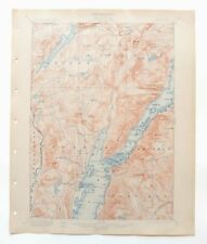 Bolton New York Antique USGS Topo Map 1900 Warrensburg 15-minute Topographic