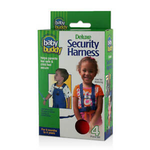 Baby Buddy Security Harness 4Pc Set Wrist Leash & Chair Straps for Toddlers