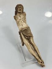Corpus Christi aus Bein/Horn geschnitzt 17./18. Jhd. Länge 22 cm