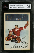 1953-54 Parkhurst #46 Terry Sawchuk Detroit Red Wings Well Centered KSA 7.5 NM+