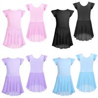 Kinder Mädchen Kleid Ballettkleid Tanzkleid Partykleid Baumwolle Ballettanzug