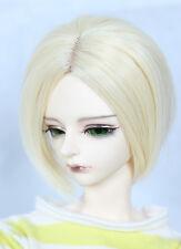 "1/3 8-9""LUTS Pullip SD BJD DD Doll Blythe Wig Short Blonde Hair A52"