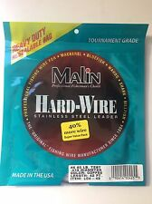 Malin Stainless Steel Leader #4 40 Lb. Test LC4-14 SS Wire Coffee (2 Packages)