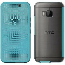 Genuine HTC HC M232 Dot View Cover Case for One M9 - Turquoise - 99H20105-00