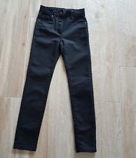 pantaloni neri bambina 10 anni chiusura zip bottone