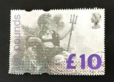 GREAT BRITAIN 1993 GB £10 Britannia stamp (VFU)