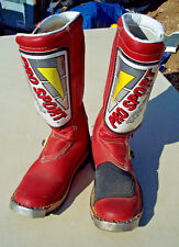 Vintage Pro Sport Racing Radium Motocross Off Road Motorcycle Boots Adult sz 7