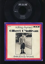 Gilbert O'Sullivan - Nothing Rhymed - Everybody knows - HOLLAND