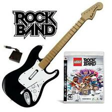 NEW PS3 Rock Band Wireless Fender Stratocaster & Lego Rock Band Game Bundle