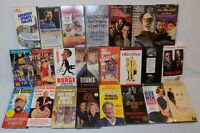 VHS VCR Tapes 25 Vintage Lot Video Tapes Comedy Sports Movies Katharine Hepburn