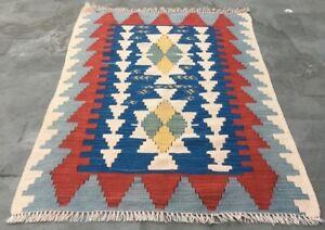 Articl1098 Vintage Handmade Turkish Kilim Area Anatolian Bedroom Wool Kilim Rug